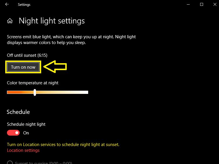 Como activar el filtro de luz azul en PC